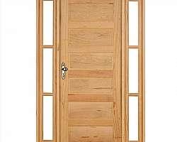 Porta madeira com puxador