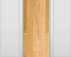Porta janela pantográfica madeira