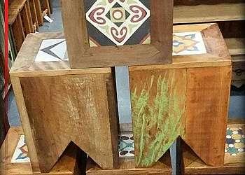 Deck de madeira para área externa