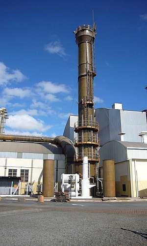 Lavador de gases para restaurantes