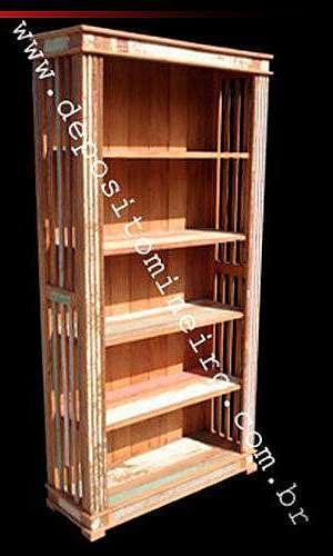 Livreiro de madeira maciça