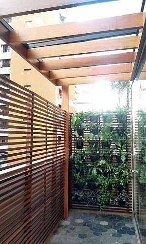 Pergolado de Madeira para Jardim